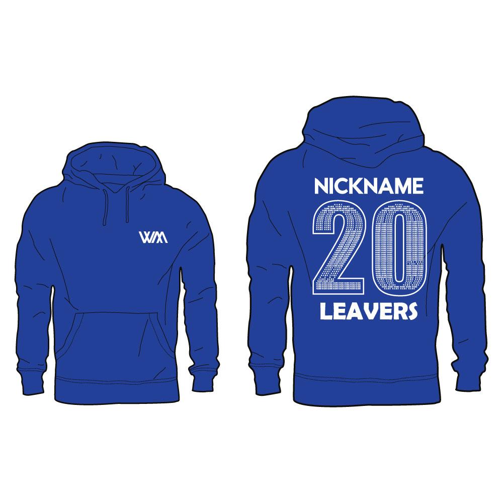 Whitcliffe Mount School Leavers Hoodie with Nickname 1