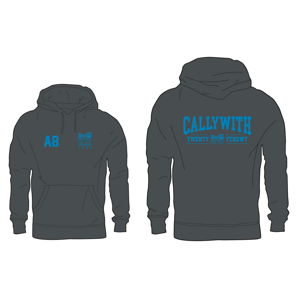 Callywith College 2020 Leavers Hoodie Charcoal 3