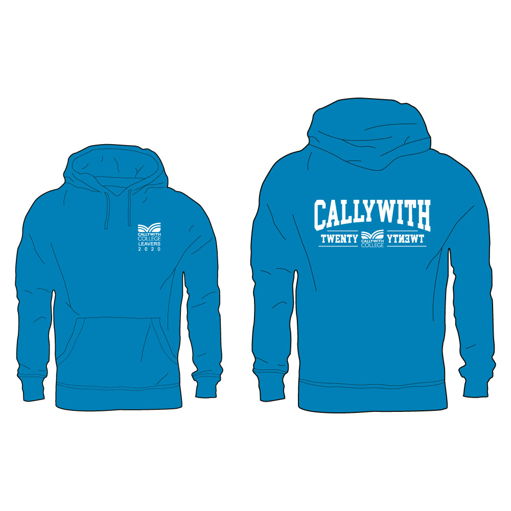 Callywith College 2020 Leavers Hoodie Turquoise 1