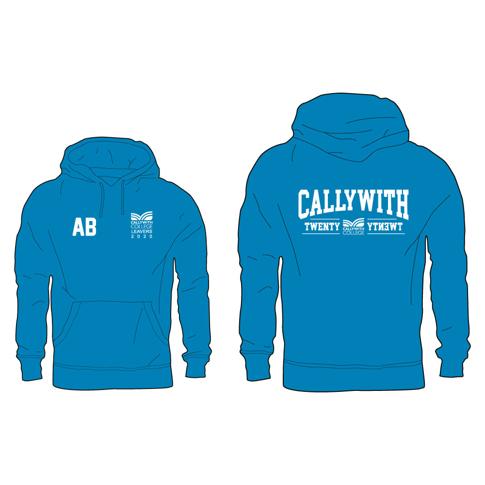 Callywith College 2020 Leavers Hoodie Turquoise 2