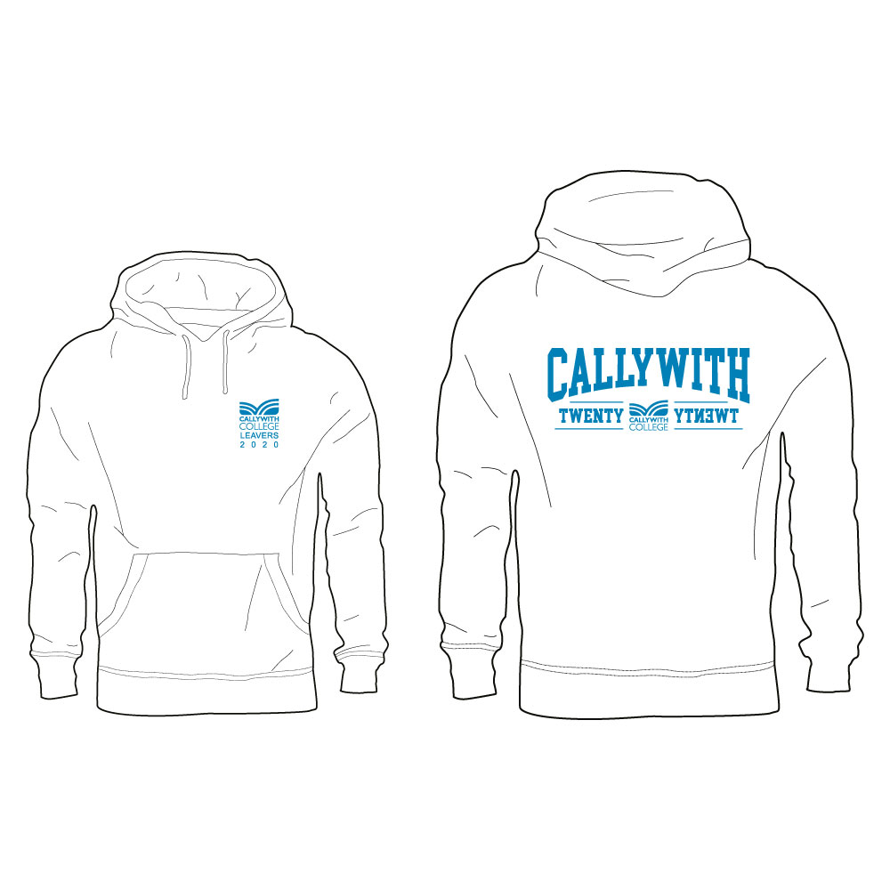 Callywith College 2020 Leavers Hoodie White 1