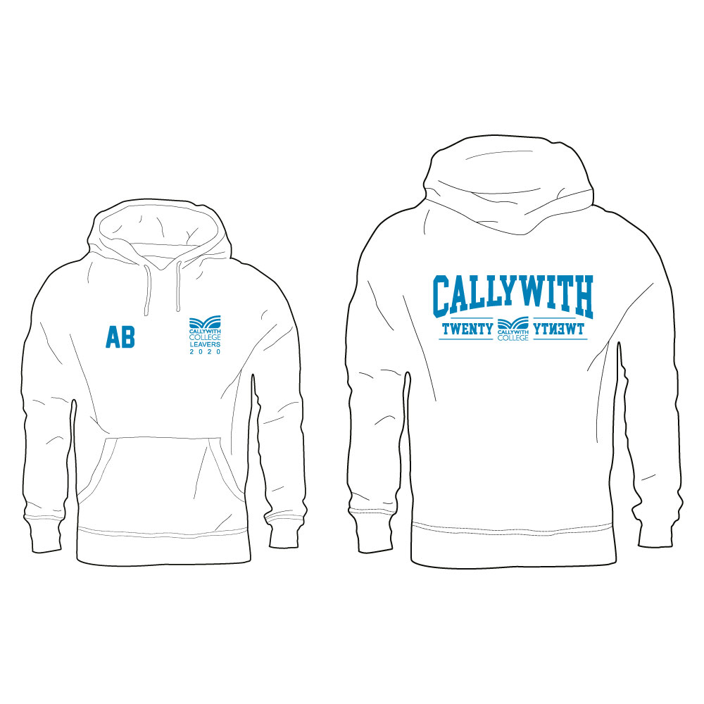 Callywith College 2020 Leavers Hoodie White 2