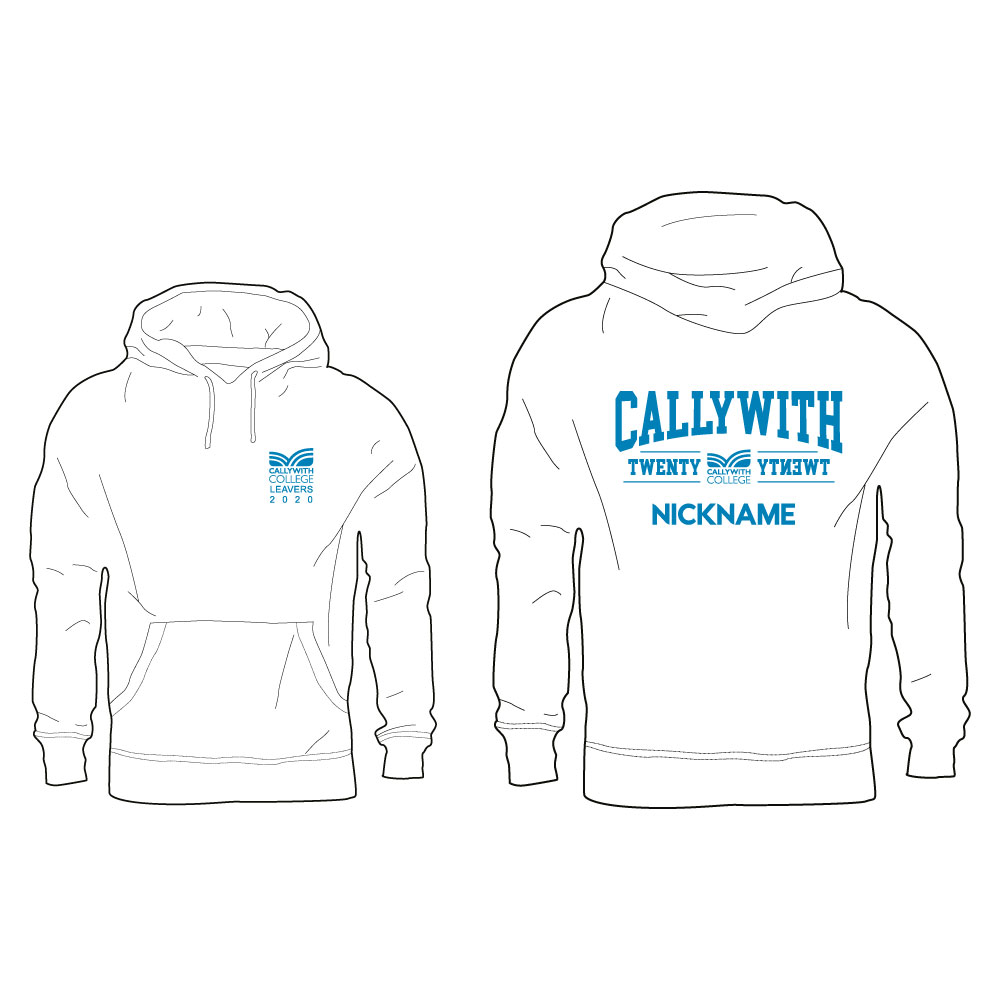 Callywith College 2020 Leavers Hoodie White 3